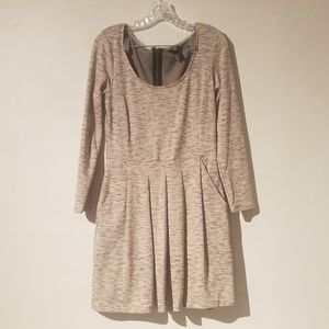 H&M Heathered Tan Skater Dress NWOT Size M…